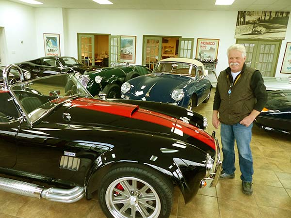 Image of Wayne Carini With His Car Collection