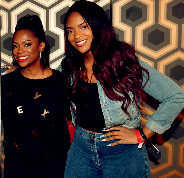 Image of Kandi Burruss with her daughter Riley Burruss