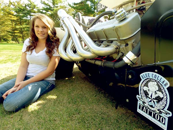 Image of Caption: Jackie Braasch is a dragster
