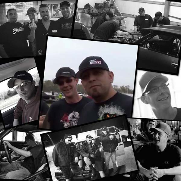 Image of Caption: Photo collage of Flip and Street Outlaws by Murder Nova