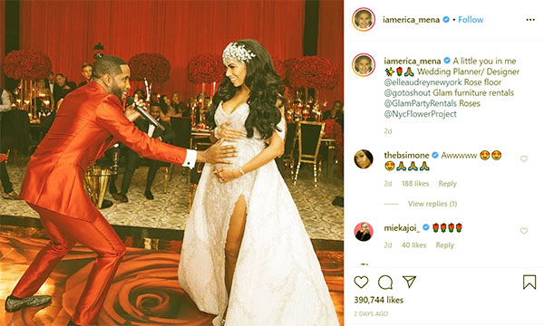 Image of Caption: Erica Mane and Safaree keep posting pregnancy pictures