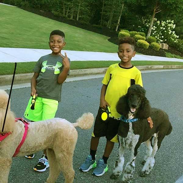 Image of Caption: Toya Bush kids Ashton and Avery.