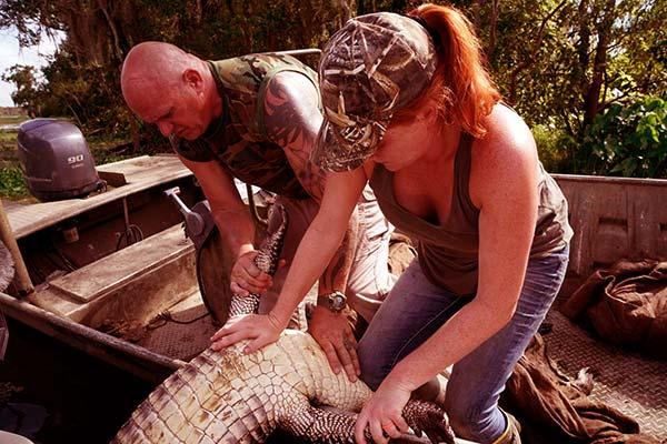 Image of Caption: Ashley Jones on Swamp People