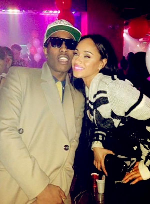 Image of Caption: Tahiry Jose most recently dating boyfriend A$ap Rocky