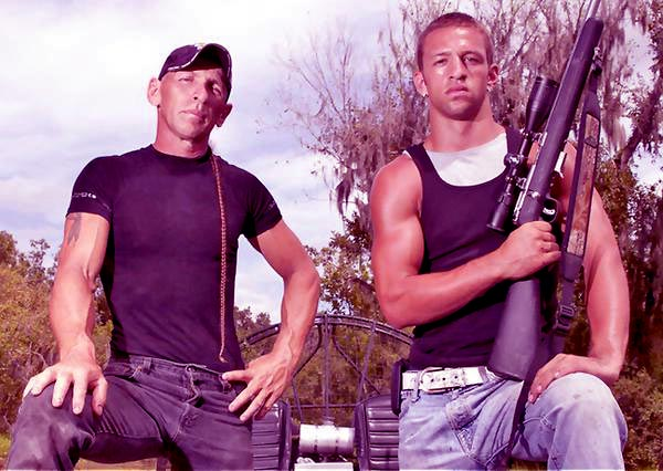 Image of Caption: Jay Paul and his father, R.J. Molinere