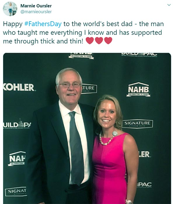 Image of Caption: Marnie Oursler with her father, Marvin on Father's Day