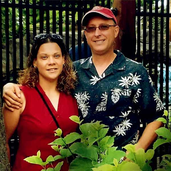 Image of Caption: Kathy Pol with late husband, Greg Butch