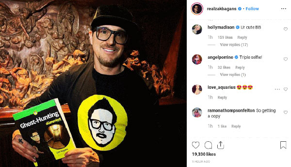 Image of Caption: Former playboy bunny, Holly Madison commented on Zak Bagans post