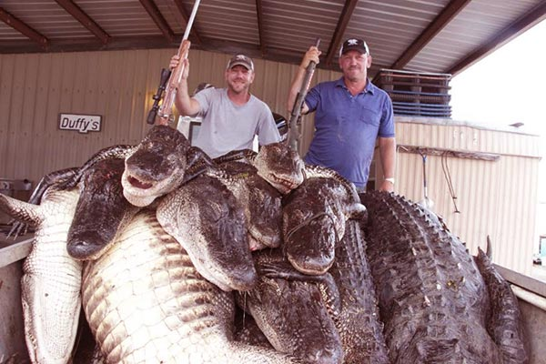 Image of Caption: Jacob Landry showing off his hunts
