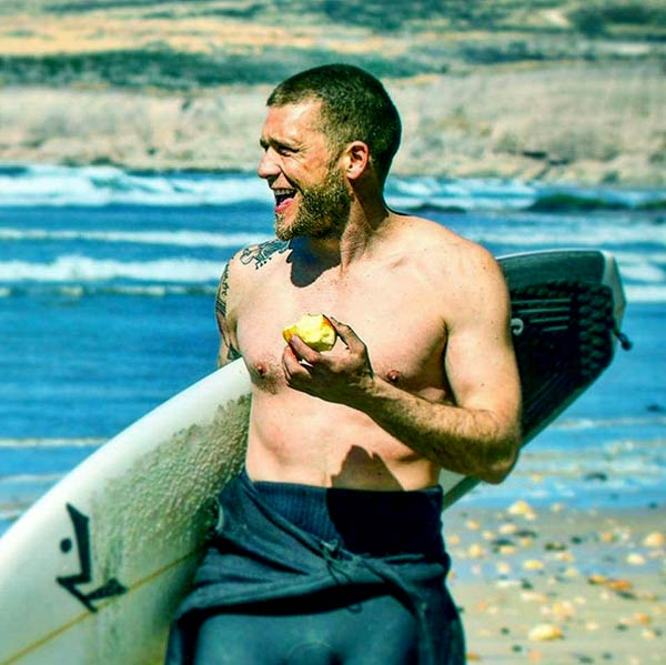 Image of Caption: Surfer Adam Glick