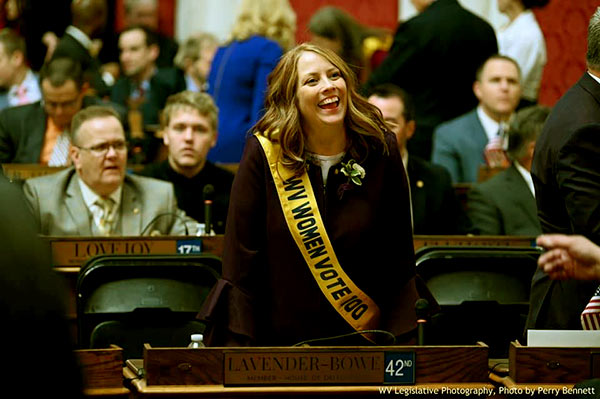 Image of Caption: Mark Bowe's wife is a West Virginia delegate