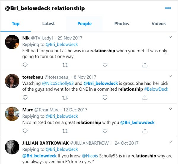 Image of Brianna Adekeye relationship screenshot
