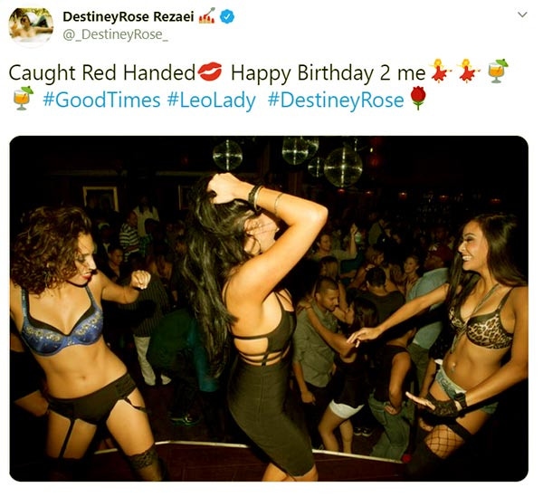Image of Caption: Destiney Rose's birthday and age