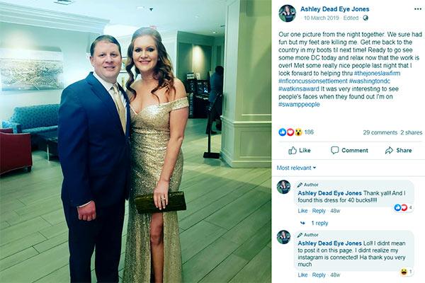 Image of Caption: Ashley Jones and her husband, Chad Jones