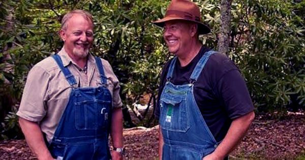 Image of Caption: Digger with his friend and partner Mark Ramsey