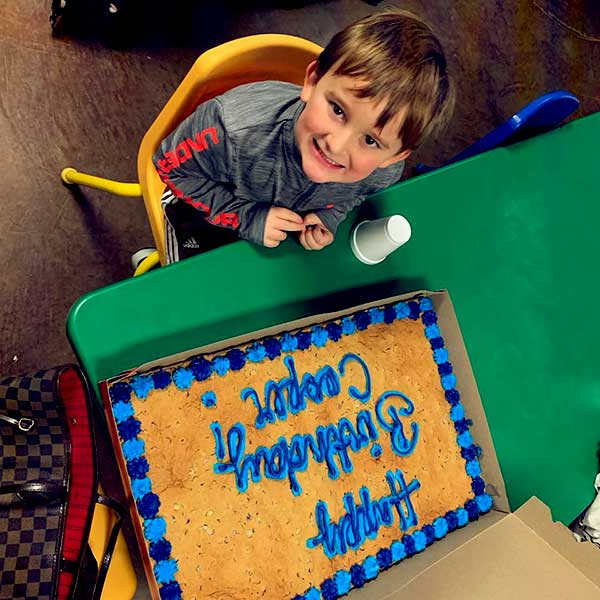 Image of Caption: Ashley Jones Celebrating her youngest son Cooper McMichael fifth birthday