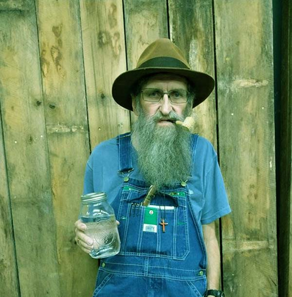Image of Caption: Legendary moonshiner JB Rader appeared in season 8 of Moonshiners