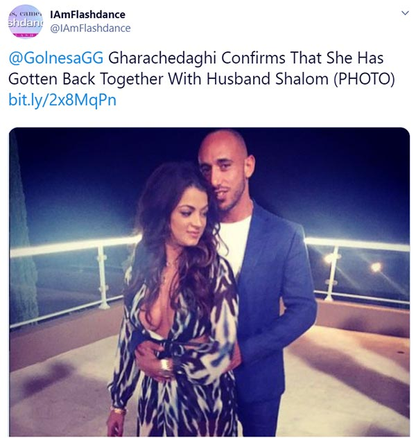 Image of Caption: Golnesa Gharachedaghi's married life to ex-husband Shalom Yerushalmi was short