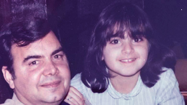 Image of Caption: Mercedes shared a lovely photo of her childhood with her late father, Shams Javid on Father's Day in June 2018