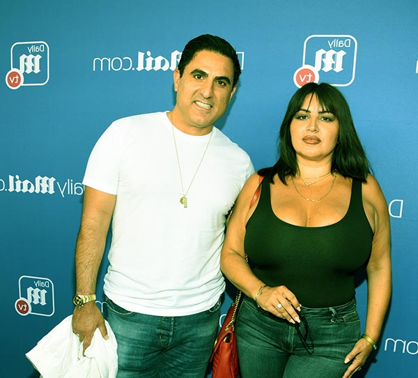 Image of Caption: Reza Farahan with his best friend Mercedes Javid