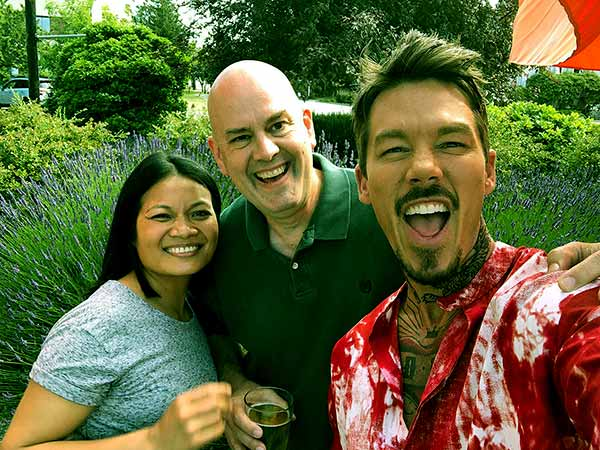 Image of David Bromstad, his mother and father