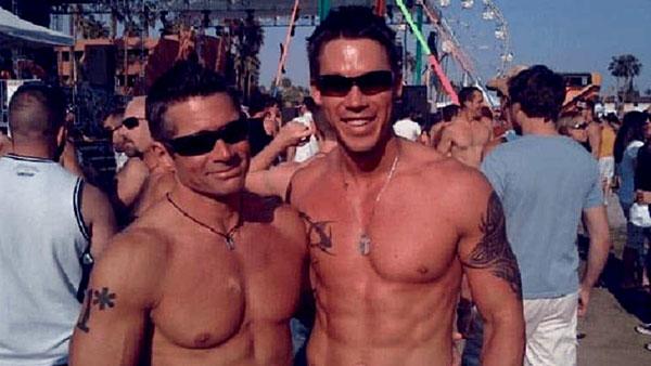 Image of David Bromstad and his ex-boyfriend, Jeffrey Glasko
