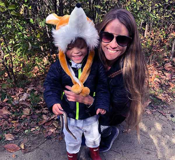 Image of Nicole Curtis with second son Harper
