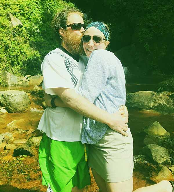 Image of Chase Morrill's with wife Sarah Morrill