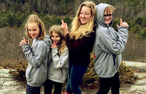 Image of Chase Morril's three daughters; Nori, Maggie, and Eva