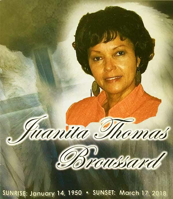 Image of Daniel Edgar's first wife Juanita passed away in 2017