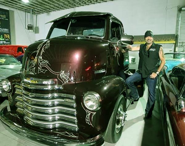 Image of Caption: Danny Koker with his Ford Chevy truck