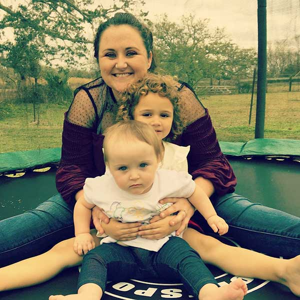 Image of Liz Cavalier's daughter, Jessica Cavalier with her daughters