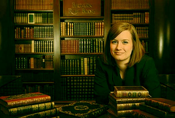 Image of Caption: Rebecca worked for Bauman Rare Books before appearing on television