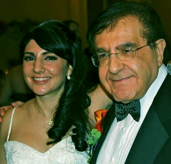 Image of Jonathan's father and one of his sisters, Jennifer Nowzaradan
