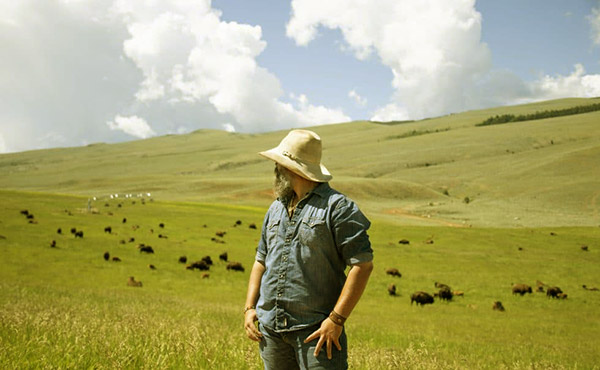 Image of Jason Kirk runs a ranch with American Bisons