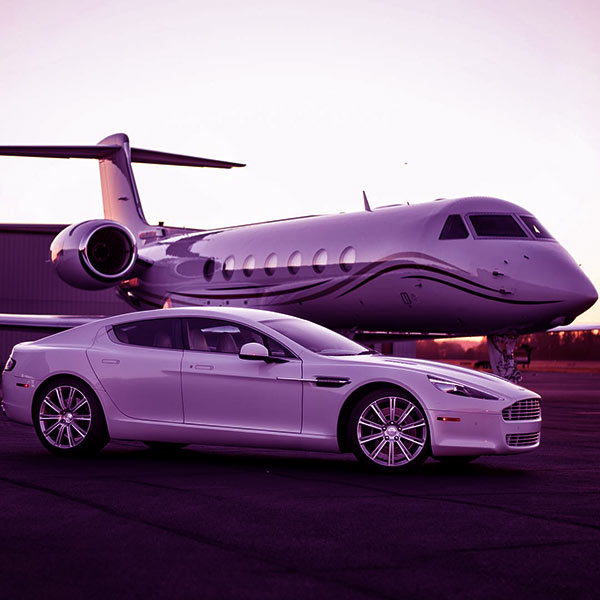 Image of Justin Thornton's cars and jet