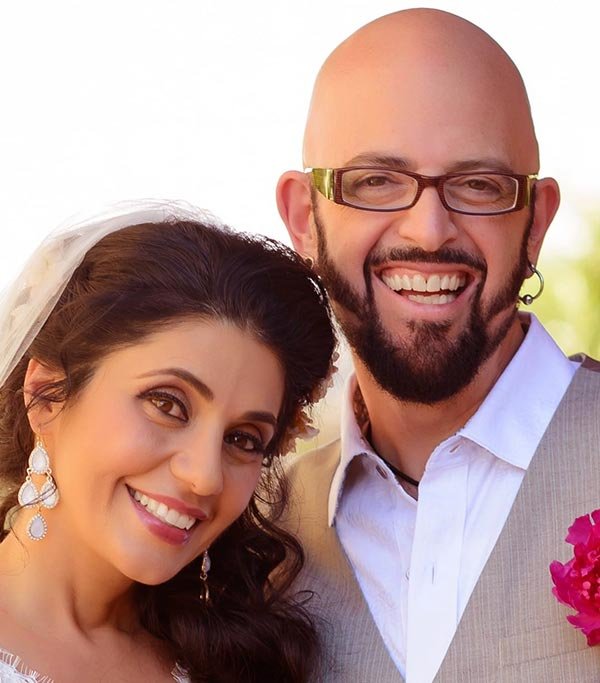 Image of Minoo Rahbar's married life with husband, Jackson Galaxy
